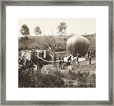 Civil War: Balloon, 1862 Framed Print