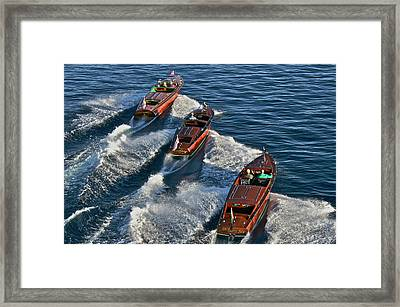 Classic Chris Craft Runabouts Framed Print by Steven Lapkin