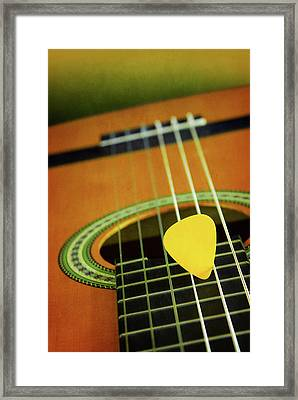 Framed Print featuring the photograph Classic Guitar  by Carlos Caetano