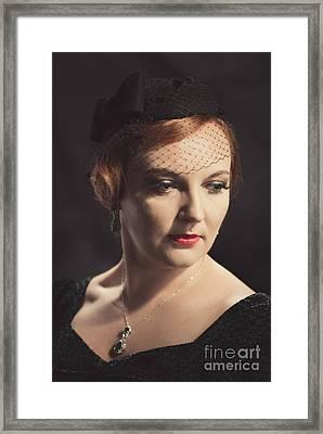 Classic Portrait Framed Print by Amanda Elwell