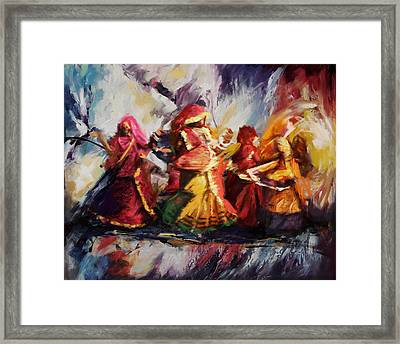 Classical Dance Art 16 Framed Print