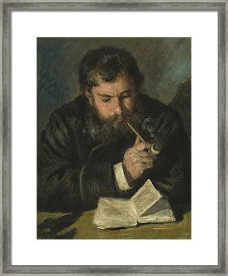 Claude Monet Framed Print by Pierre Auguste Renoir