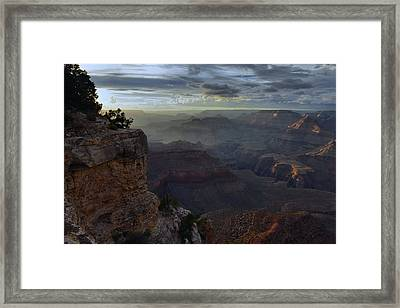 Clearing Storm At Sunset Framed Print