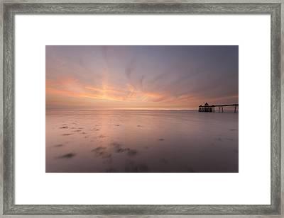 Clevedon Sunset Framed Print by Don Hooper