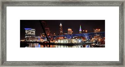 Cleveland Panorama Framed Print by Frozen in Time Fine Art Photography