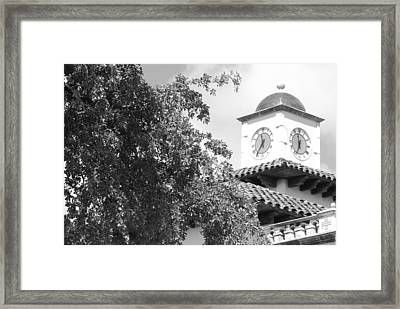 Clock Tower Framed Print by Rob Hans