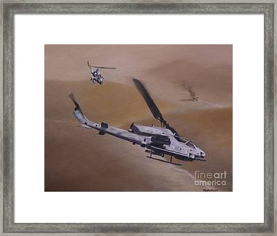 Close Air Support Framed Print by Stephen Roberson
