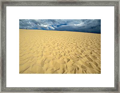 Clouds Over The Great Dune Of Pyla On The Bassin D'arcachon Framed Print