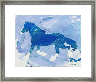 Clydesdale Dreams Framed Print
