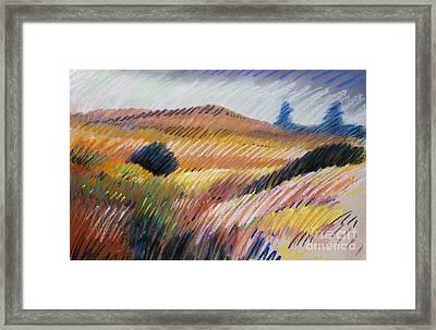 Coastal Hills Framed Print