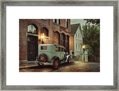 Framed Print featuring the photograph Cobblestone Streets by Robin-Lee Vieira