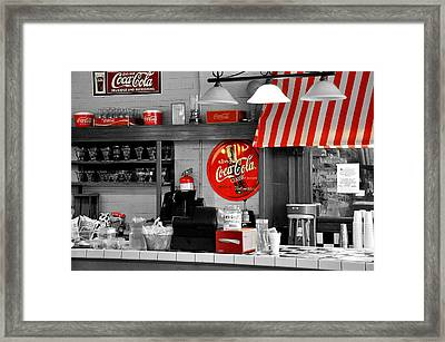 Coca Cola Framed Print by Todd Hostetter