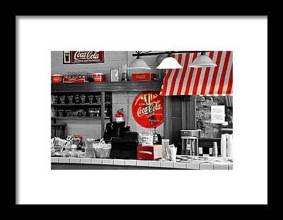 Coke Framed Prints