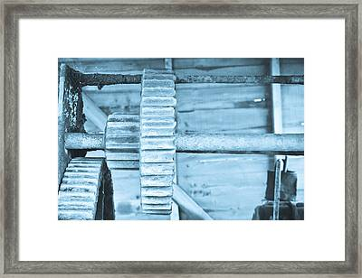 Cog Framed Print by Tom Gowanlock