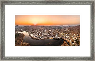Colinsville, Connecticut Sunrise Panorama Framed Print