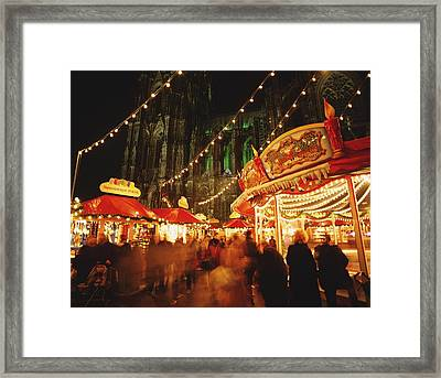 Cologne Cathedral And Christmas Market Framed Print by Axiom Photographic