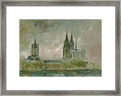 Cologne Cathedral Framed Print by Juan  Bosco
