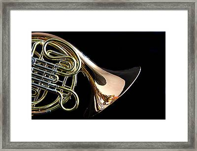 Color French Horn Framed Print by M K  Miller