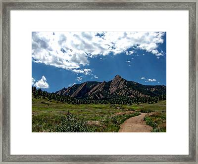 Colorado Landscape Framed Print by Anthony Dezenzio