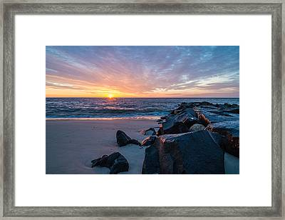 Colorful Start Framed Print by Kristopher Schoenleber