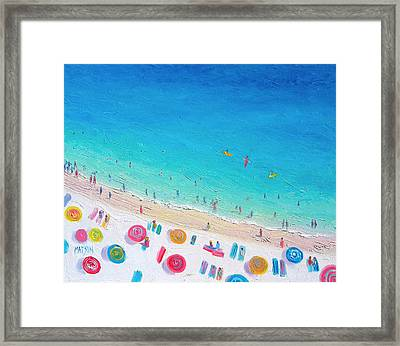 Colors Of The Beach Framed Print