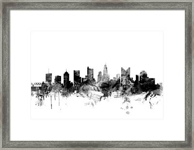 Columbus Ohio Skyline Framed Print