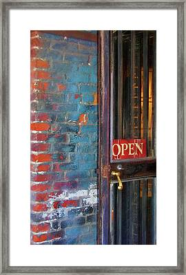 Come On In, We're Open Framed Print by JAMART Photography