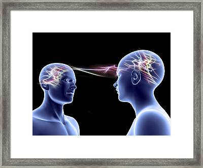 Communication, Conceptual Artwork Framed Print