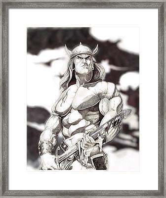 Conan The Barbarian Framed Print by Bill Richards