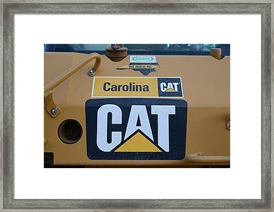 2 - Caterpillar Logo - Cat - Construction Equipment Series  Framed Print by Matt Plyler