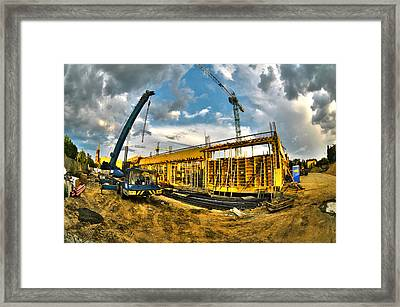 Construction Site Framed Print by Jaroslaw Grudzinski