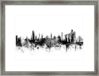 Copenhagen Denmark Skyline Framed Print