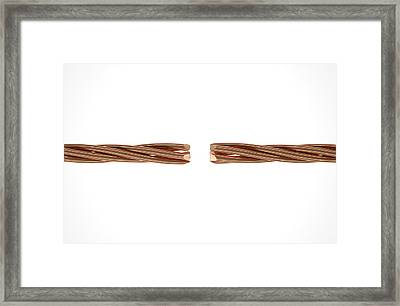 Copper Wire Strands Disconnected Framed Print