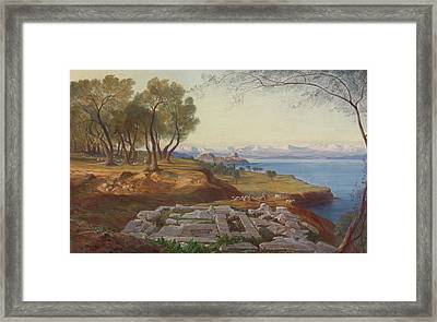 Corfu From Ascension Framed Print
