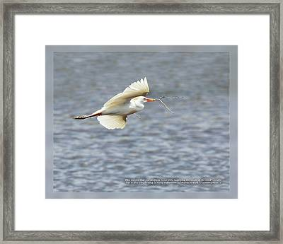 Framed Print featuring the photograph 2 Corinthians 9 12 by Dawn Currie