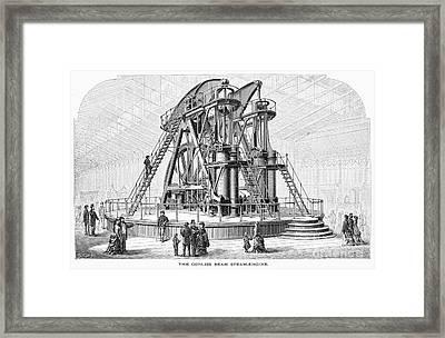 Corliss Steam Engine, 1876 Framed Print by Granger