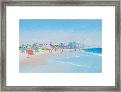 Coronado Beach - San Diego Framed Print