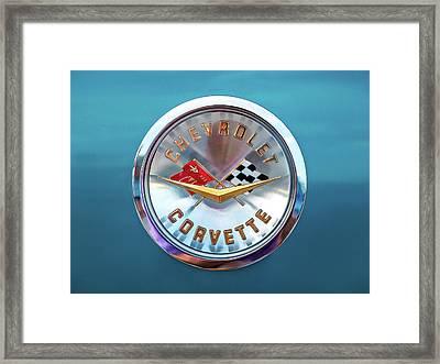 Corvette Badge Framed Print