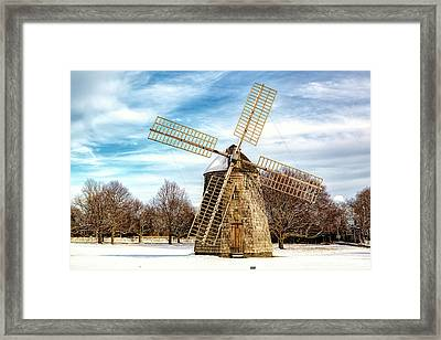 Corwith Windmill Long Island Ny Cii Framed Print by Susan Candelario