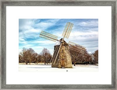 Corwith Windmill Long Island Ny Cii Framed Print