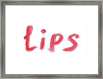 Cosmetics Sample. Framed Print