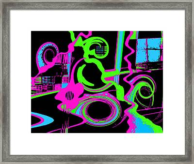 Cosmic Dj Framed Print by Cristophers Dream Artistry