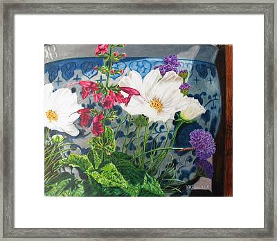 Framed Print featuring the painting Cosmos by Karen Ilari
