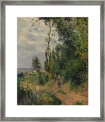 Cote Des Grouettes, Near Pontoise Framed Print by Camille Pissarro