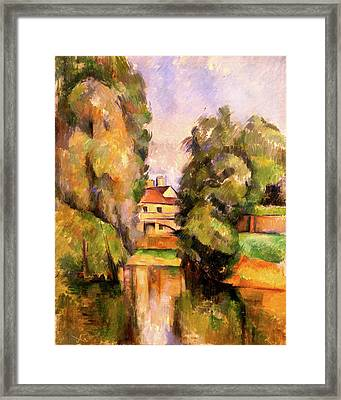 Country House By A River  Framed Print