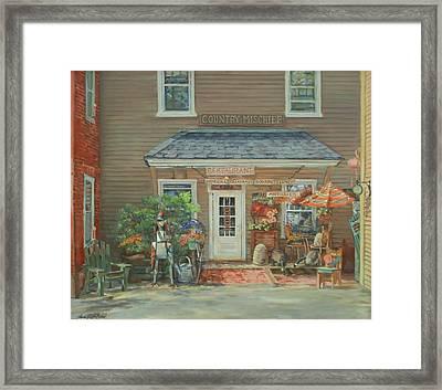 Country Mischief Framed Print by Sharon Jordan Bahosh