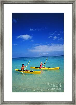 Couple Paddling Framed Print by Kyle Rothenborg - Printscapes