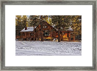 Cozy In Winter Framed Print by Mountain Dreams