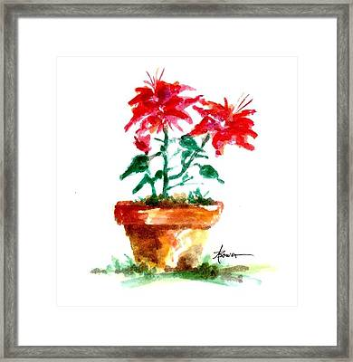 Cracked Pot  Framed Print
