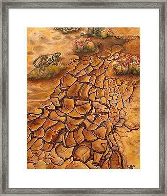 Crackin Up Framed Print by Kathy Shute
